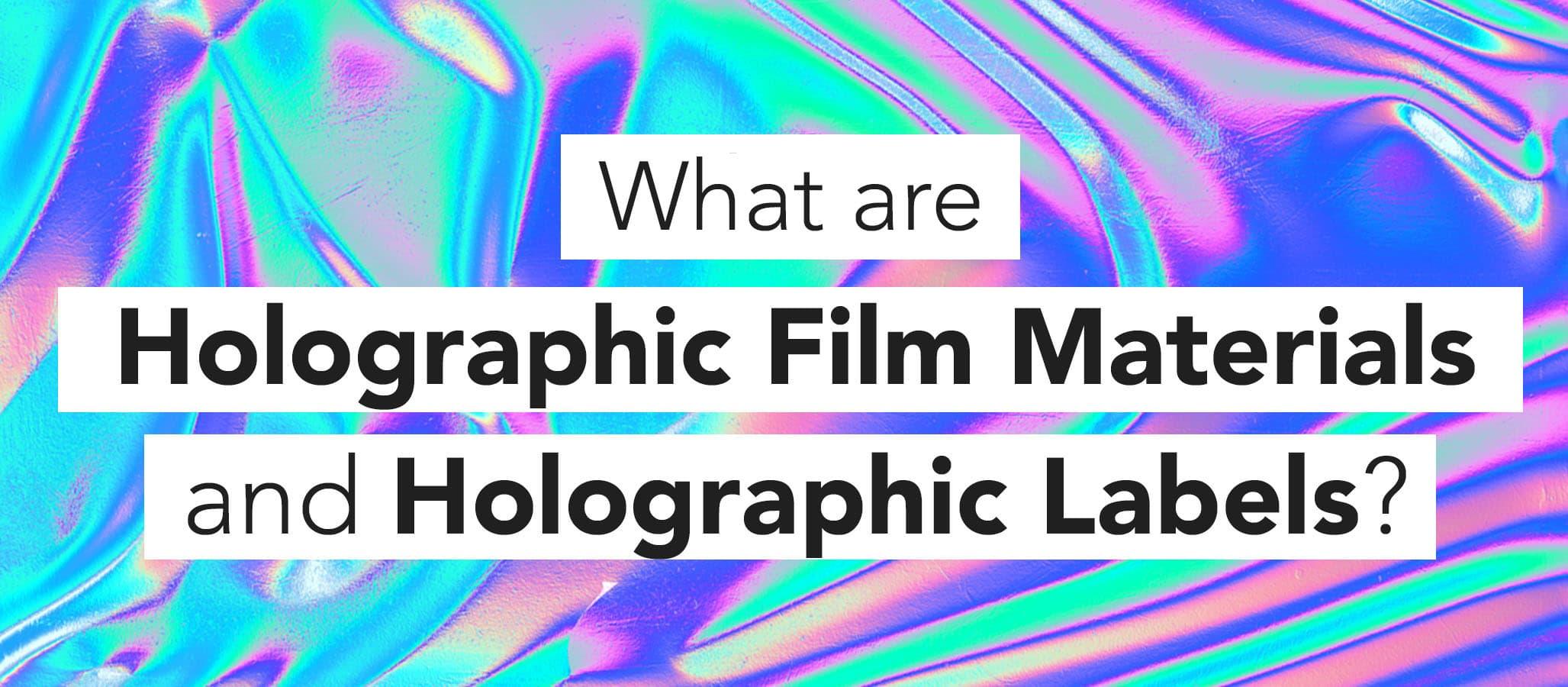 Printing Custom Holographic Labels